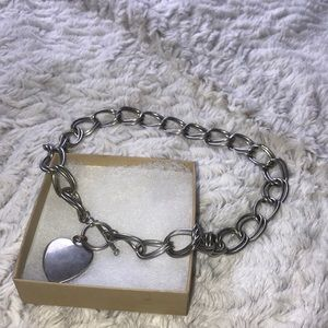 Big chain link heart necklace
